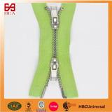 Custom two way metal zipper for bags