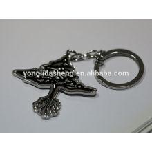 Porte-clés métallique promotionnelle la plus récente en alliage de zinc