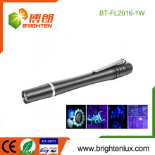 Factory Bulk Sale 2*AA Battery Powered Handheld Metal Material Money Checking led uv Torch Light Pen