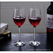 Verre à vin en cristal à la main unique en gros (KS25197)