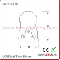 Pas de lumière de tube de la zone foncée 13W 900mm LED T5 LC7577A-09
