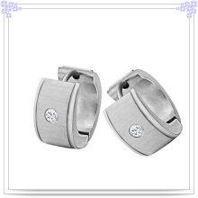 Joyería de moda joyería de cristal pendientes de acero inoxidable (EE0026)