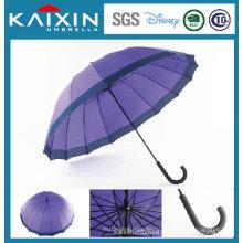 Lila Farbe Golf Umbrella Winddichte Regenschirm