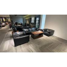 Dious modern designs leisure sofa luxury  synthetic artificial leather with steel legs recliners living room office sofa set