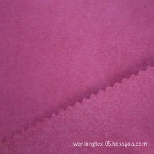 105D double weft short hair suede fabric with tricot backing for shoes