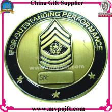 Moneda del desafío del metal con el grabado del logotipo 3D
