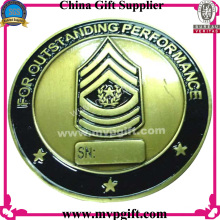 Metal Challenge Coin with 3D Logo Gravure