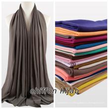 2017 летняя женщина сплошной цвет plian мусульманских пузырь шифон хиджаб шарф шаль макси хиджаб мгновенных шаль хиджаб шифон