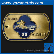 customize metal dog tag, custom high quality blue devils 88 Dog Tag
