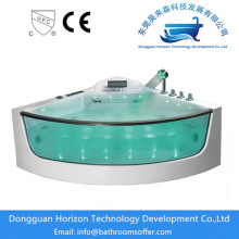 Factory wholesale price for fashion glass tub Freestanding acrylic corner jacuzzi tub supply to India Exporter