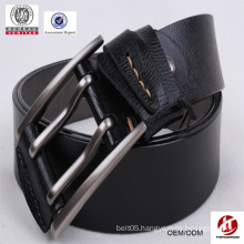 American style popular mens double prong genuine leather belt