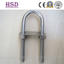 U Bolt, AISI316, Ss304, with Nut and Double Plate, Rigging Hardware, Marine Hardware