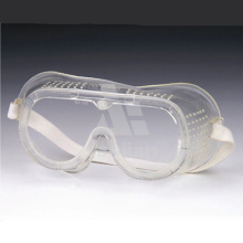 Wrap Around PVC Soft Frame Clear PC Lens Protective Safety Goggles