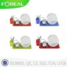 Colores del alambre de Metal estante de la cocina de una sola capa