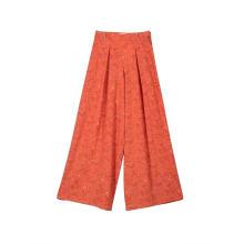 Calça feminina de cintura alta casual com perna larga longa calça Palazzo