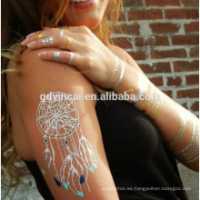 Dream catcher tattoo designs, Customized temporal tatuajes de oro