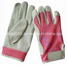 Sicherheit Hausfrau Gartenarbeit Arbeitsblume Dame Pigskin Handschuhe