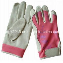 Safety Housewife Gardening Working Flower Lady Pigskin Gloves