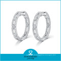 Nouvelles conceptions de conception de boucle d'oreille de conception ronde d'or pour des filles (E-0248)