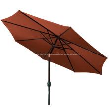 Paraguas del patio de aluminio 2014 con inclinación