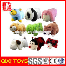 dog / sheep / elephant plush cushion toy, animal cushion soft toy