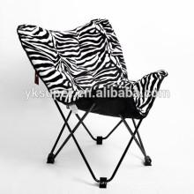 Novo design cadeira acolchoada de borboleta dobrável
