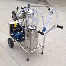 Single Barrel Vacuum Pump Portable Milking Machine