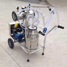 Máquina de ordenha com balde de aço inoxidável