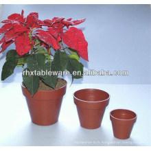 Pots de fleurs en fibres naturelles de plantes / pots de fleurs en fibre de bambou