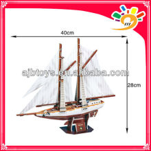 81pcs 3D paper puzzle Two-masted schooner,puzzle game educational for kids various styles hot selling