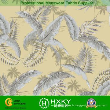 Tissu tissé de polyester tissé de haute qualité imprimé pour le vêtement de dames