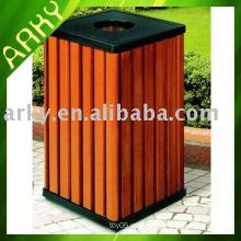 Boa qualidade Caixote do lixo de madeira ao ar livre