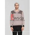 Men′s Intarsia Pure Cashmere Sweater