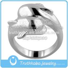 Stahl und Goold Farbe Dolphins Style Ring kann die Asche Memorial setzen