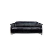 Aviator Aluminium Tomcat 3 Seater Leather Sofa