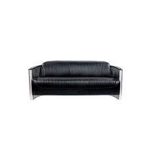 Aviator Aluminium Tomcat 3 Seater Leather Sofa