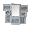 Antique Collage Frame with Mirror