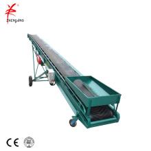 Carbon steel mobile quartz sand belt conveyor