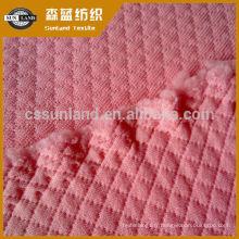 tissu jacquard de polyester trilobal brillant de type interlock