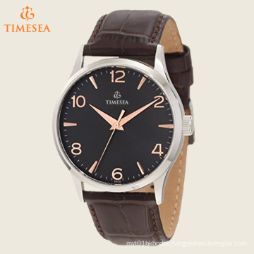Men′s Strap Watch with Rose Gold Dial Markers Watch 72356