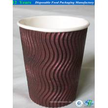 14oz Ripple Wall Paper Cup mit Deckel