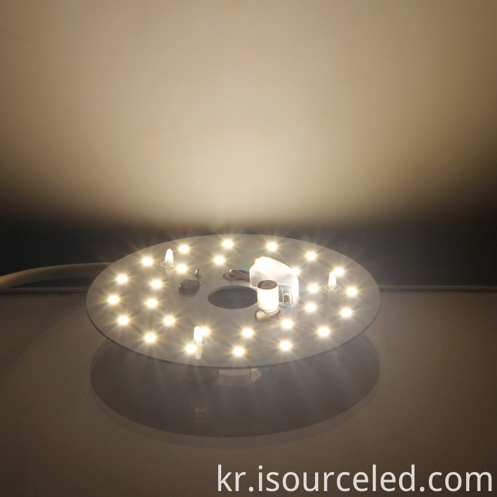 Warm white light 9W LED ceiling light module