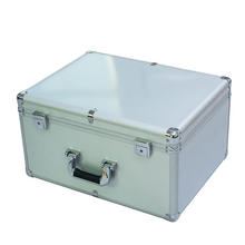 Silver Aluminum Box with The Brushed Metal Panel (keli-D-50)