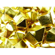 gold solid acrylic ice stone pieces used in candle holder