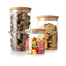 Large 1L Custom Handblown Glass Airless Fresh Food Storage Container