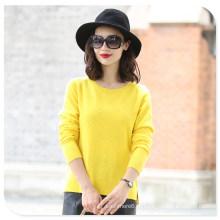 Camisola colorida de 100% Cashmere Women`s