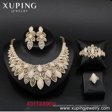 62929 African wholesale jewellery New women's fashion 18k gold color luxury jewelry set