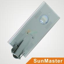 Exterior todo en uno 15W integrado LED luz de calle solar / luz del jardín