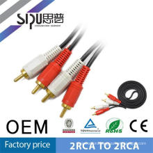 SIPU factory selling digital av cable audio video cable 2rca to 2rca