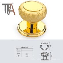 Gold Door Knob in The Shape of Mushroom